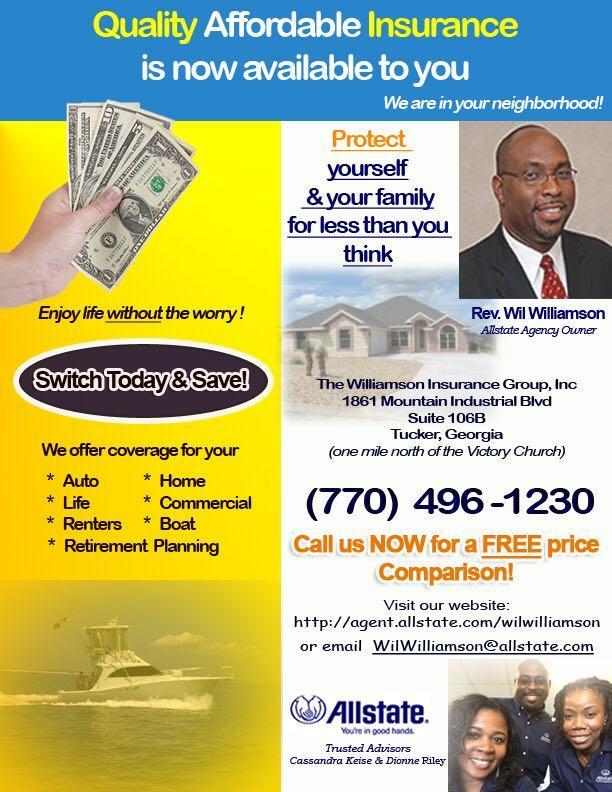 Allstate  Car Insurance in Tucker, GA - Wil Williamson