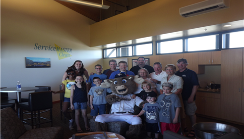 The Dickson Agency enjoyed hosting some of our clients at a Rainer's game.