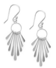 Image of Giani Bernini Sterling Silver Earrings, Paddle Drop Earrings