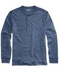 Image of Club Room Men's Heathered Henley, Created for Macy's