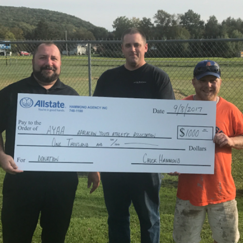 Charles Hammond - Helping Out Apalachin's Baseball League