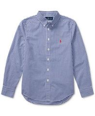 Image of Ralph Lauren Lightweight Cotton Poplin Shirt, Big Boys