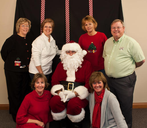 Santa and the Berkshire Hathaway Real Estate Team.