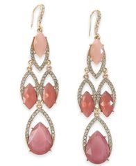 Image of I.N.C. Crystal Chandelier Earrings, Created for Macy's