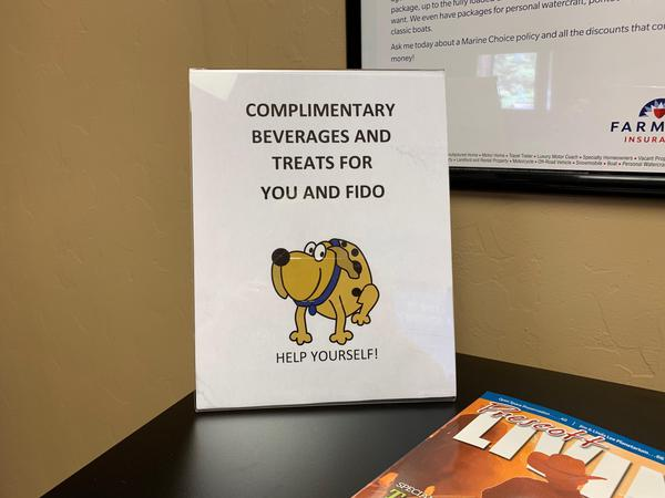 Sign for free dog treats
