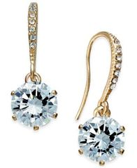 Image of Charter Club Gold-Tone Cubic Zirconia Drop Earrings, Created for Macy's