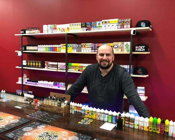 My client at his new vape store