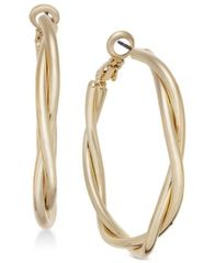 Image of Charter Club Gold-Tone Double Twist Hoop Earrings, Created for Macy's