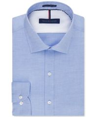 Image of Tommy Hilfiger Men's Slim-Fit Non-Iron Soft Wash Solid Dress Shirt