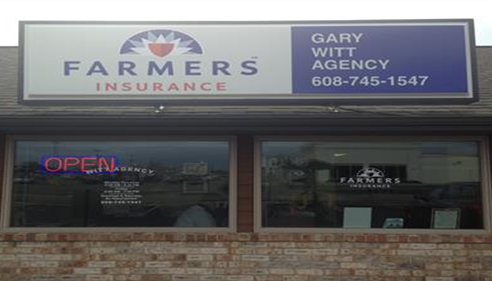 Our New Farmers® Logo sign for the Gary Witt Agency