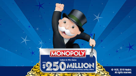 MONOPOLY Man with arm in the air.