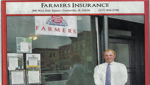 Agent Jacob Hainsfurther featured in the local newspaper