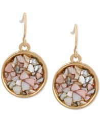 Image of Kenneth Cole New York Gold-Tone Multicolor Stone Drop Earrings
