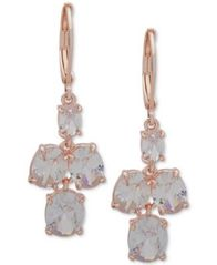 Image of Anne Klein Crystal Drop Earrings