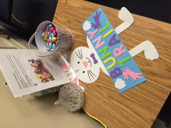 Easter theme for the Teachers at Koelsch Elementary!