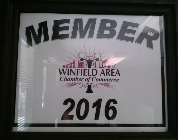 Member of the Local Winfield Chamber of Commerce