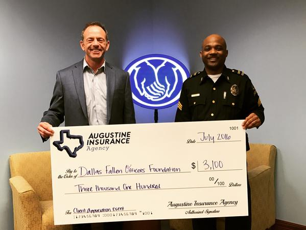 Aaron Augustine - Over $3,100 Donated to Dallas Fallen Officer Foundation