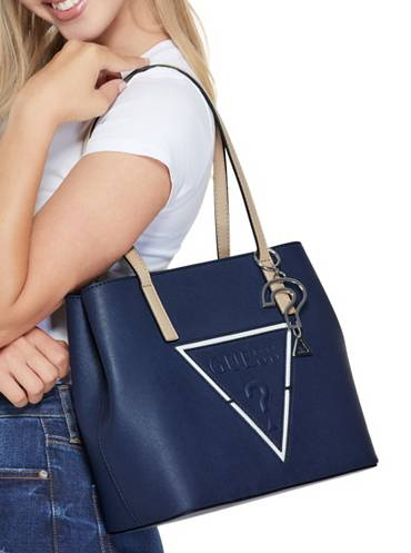 Guess Factory Large blue tote bag