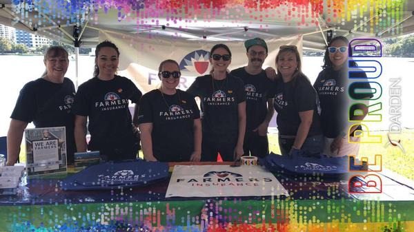 Felder Agency & the Farmers family at the Pride event downtown Orlando
