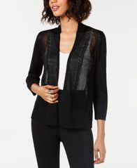 Image of Alfani Novelty Stitch Cardigan, Created for Macy's