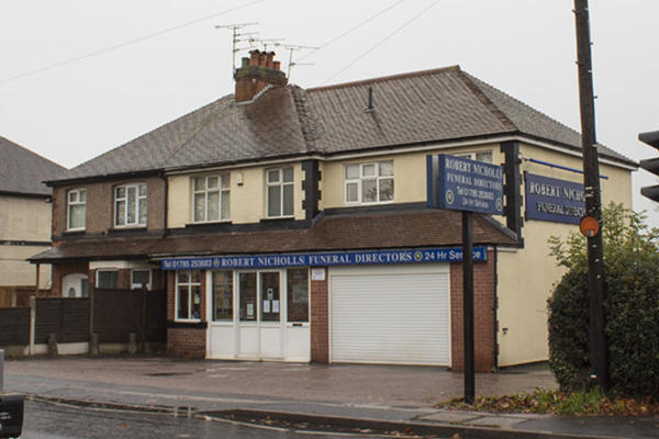 Robert Nicholls Funeral Directors on Rising Brook, Stafford