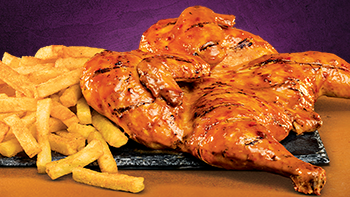 Steer's famous chicken with chips