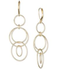 Image of Anne Klein Open Circle Triple Drop Earrings