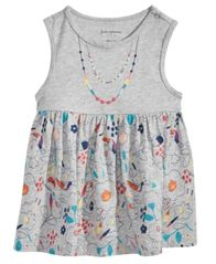 Image of First Impressions Graphic-Print Cotton Top, Baby Girls, Created for Macy's