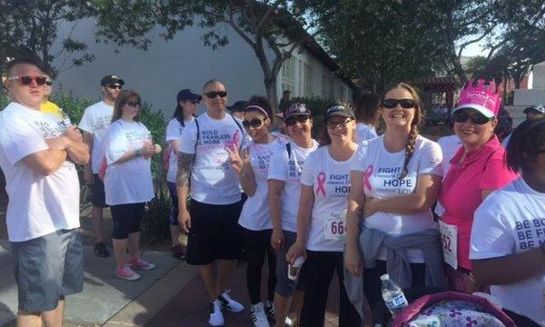 Team Bustamante Agency Susan G Komen Breast Cancer walk 2017