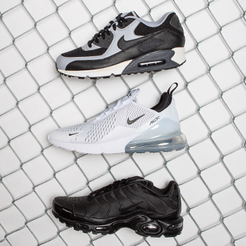 Add some fresh Air to your fit with Nike Air Max.