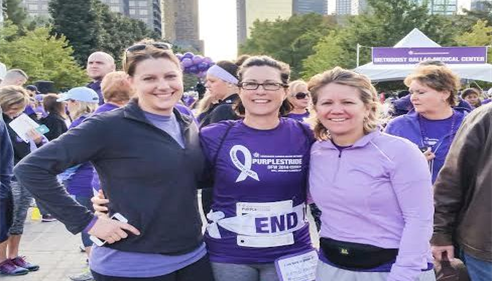 """The Purple Stride"" raising awareness around pancreatic cancer."
