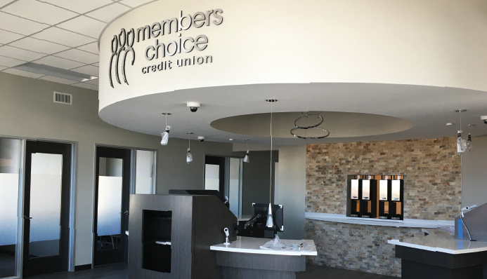 Members Choice Credit Union Grand Parkway Branch Lobby