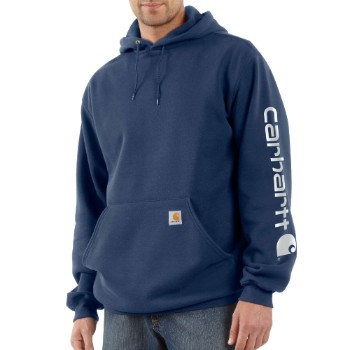Image of MIDWEIGHT HOODED LOGO SWEATSHIRT