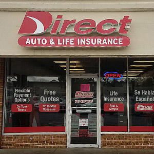 Front of Direct Auto store at 841-A West Constance Road, Suffolk