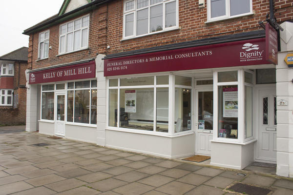 Kelly of Mill Hill Funeral Directors in Holders Hill Road, Hendon