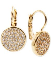 Image of Anne Klein Crystal Pavé Disc Drop Earrings