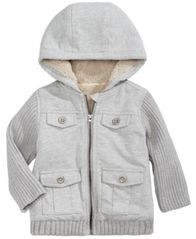 Image of First Impressions Fleece Cargo Jacket, Baby Boys (0-24 months), Created for Macy's