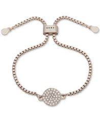 Image of DKNY Pavé Disc Slider Bracelet, Created for Macy's
