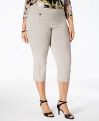 Image of Alfani Plus Size Pull-On Capri Pants, Created for Macy's