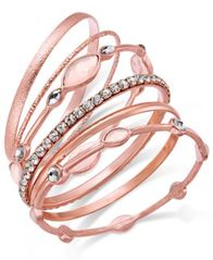Image of I.N.C. 6-Pc. Crystal Bangle Bracelet Set, Created for Macy's