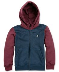 Image of Volcom Colorblocked Zip-Up Hoodie, Big Boys