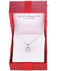 "Image of TruMiracle® Diamond Pendant 18"" Necklace in 14k Gold, Rose Gold or White Gold (1/2 ct. t.w.)"