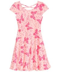 Image of Epic Threads Big Girls Butterfly-Print Skater Super-Soft Dress, Created for Macy's