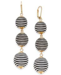 Image of I.N.C. Gold-Tone Wrapped Ball Triple Drop Earrings, Created for Macy's