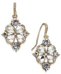 Image of Charter Club Gold-Tone Crystal Drop Earrings, Created for Macy's