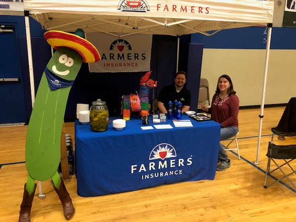 farmers booth at an expo