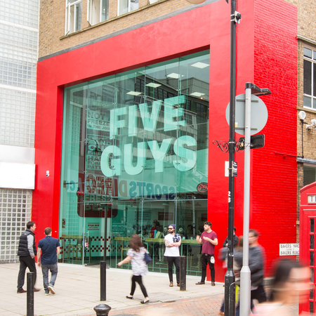 Five Guys Burgers and Fries Restaurant Uxbridge Greater London