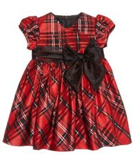 Image of Bonnie Baby Plaid Taffeta Dress, Baby Girls (0-24 months)
