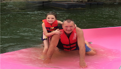 Lake fun with my granddaughter!