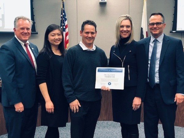Andrea Coulon - Honored by Tustin Unified School District